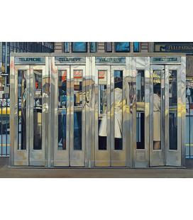 Richard Estes - Cabina Telefonica Riproduzione giclèe su tela