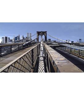 Richard Estes - Brooklyn Bridge (1993) Riproduzione giclèe su tela
