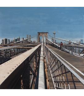 Richard Estes - Brooklyn Bridge Riproduzione giclèe su tela