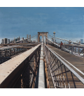 Richard Estes - Brooklyn Bridge. Giclèe reproduction on canvas