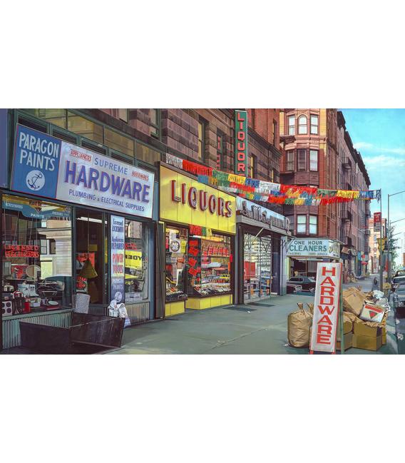 Richard Estes - Supreme Hardware. Giclèe reproduction on canvas