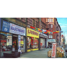 Richard Estes - Supreme Hardware. Giclèe reproduction on canvas