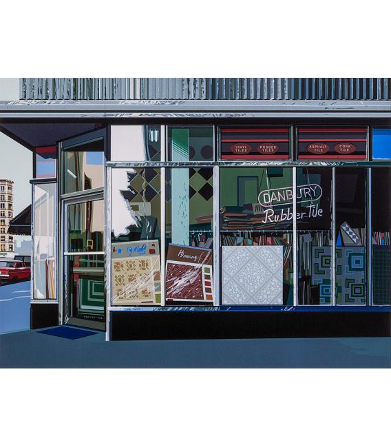 Richard Estes - Danbury Tile. Giclèe reproduction on canvas