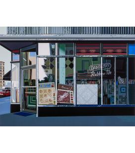 Richard Estes - Danbury Tile. Riproduzione giclèe su tela