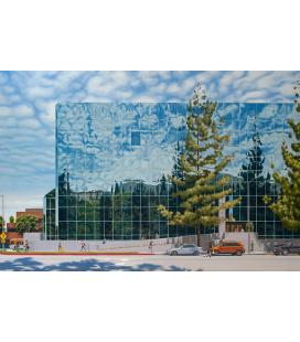 Richard Estes - 3800 Barham Boulevard. Riproduzione giclèe su tela