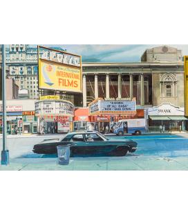 Richard Estes - Apollo. Giclèe reproduction on canvas