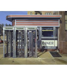 Richard Estes - Diner Custom. Riproduzione giclèe su tela