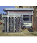 Richard Estes - Diner Custom. Giclèe reproduction on canvas