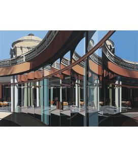 Richard Estes - Motivation of building. Giclèe reproduction on canvas