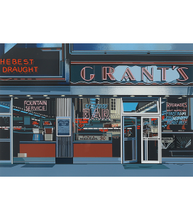 Richard Estes - Grant's from the suite. Giclèe reproduction on canvas