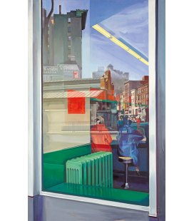 Richard Estes - Donohue's (1967). Giclèe reproduction on canvas