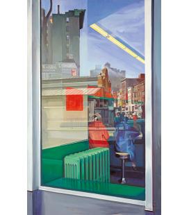 Richard Estes - Donohue's (1967). Riproduzione giclèe su tela