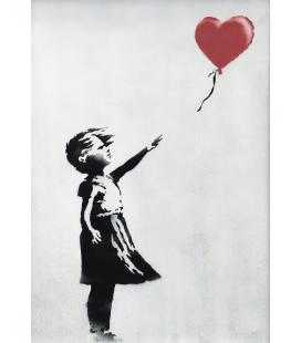 Banksy - La ragazza con il palloncino. Stampa su tela