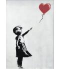 Banksy - Balloon Girl. Print on canvas