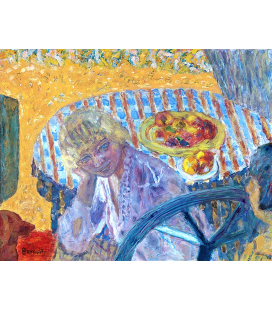 Pierre Bonnard - Ritratto di Renée Monchaty. Stampa su tela