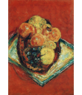 Pierre Bonnard - Fruit on the red tablecloth. Printing on canvas