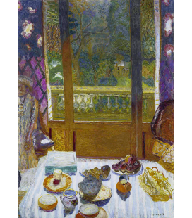 Pierre Bonnard - Sala da pranzo con vista sul giardino. Stampa su tela
