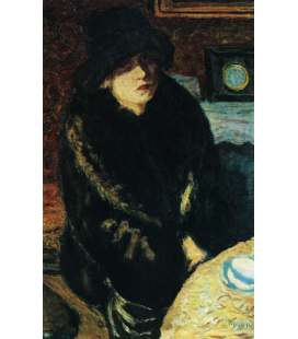 Pierre Bonnard - Portrait of Marta Bonnard . Printing on canvas