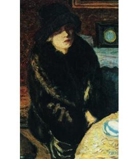 Pierre Bonnard - Ritratto di Marta Bonnard. Stampa su tela