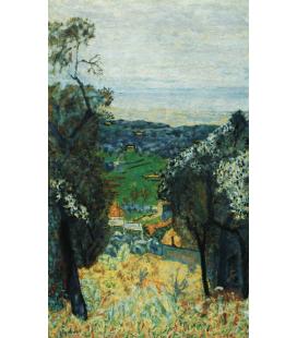 Pierre Bonnard - Paesaggio di Cannet. Stampa su tela