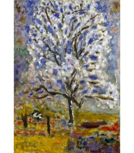 Pierre Bonnard - Il mandorlo in fiore. Stampa su tela