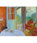 Pierre Bonnard - Dining room. Printing on canvas