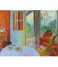 Pierre Bonnard - Dining room. Printing on canvas