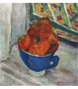 Pierre Bonnard - Fragole in una tazza. Stampa su tela