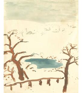 Pierre Bonnard - Paesaggio invernale. Stampa su tela