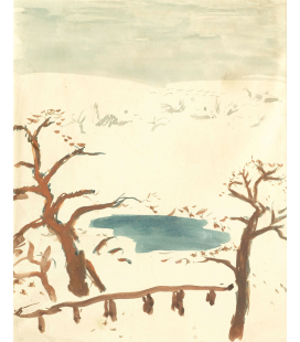 Pierre Bonnard - Winter landscape. Printing on canvas