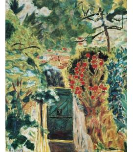 Pierre Bonnard - La porta della villa le Bosquet Vista sul giardino. Stampa su tela