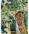 Pierre Bonnard - The door of the villa le Bosquet View of the garden. Printing on canvas