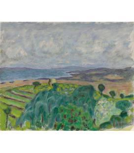 Pierre Bonnard - La ragazza con il gabbiano. Stampa su tela
