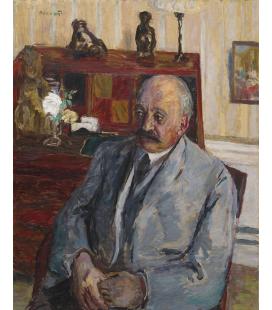Pierre Bonnard - Ritratto di M. Jos Hessel. Stampa su tela