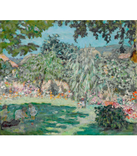 Pierre Bonnard - Giardino in Dauphine. Stampa su tela
