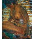 Pierre Bonnard - La Pelle Scura. Stampa su tela
