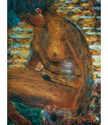 Pierre Bonnard - The Dark Naked. Printing on canvas