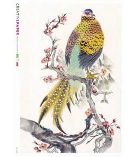 Decoupage rice paper: Lucky Birds