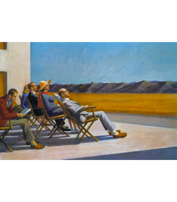 Printing on canvas: Edward Hopper - People in the Sun
