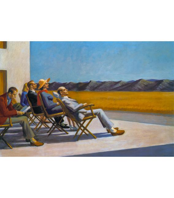 Stampa su tela: Edward Hopper - Persone al sole