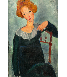 Printing on canvas: Amedeo Modigliani - Woman with red hair