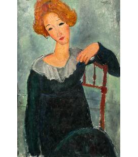 Amedeo Modigliani - Donna con capelli rossi. Stampa su tela