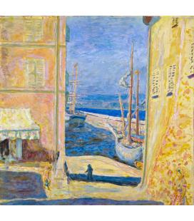 Pierre Bonnard - Veduta del Porto Vecchio St. Tropez. Stampa su tela