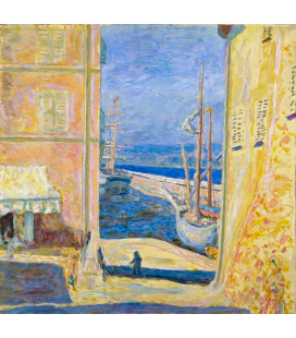 Pierre Bonnard - View of the Old Port St. Tropez. Printing on canvas