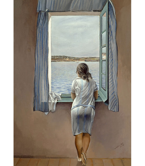 Printing on canvas: Salvador Dali - Girl at the Window
