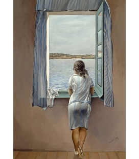 Printing on canvas: Salvador Dali - Girl at the Window