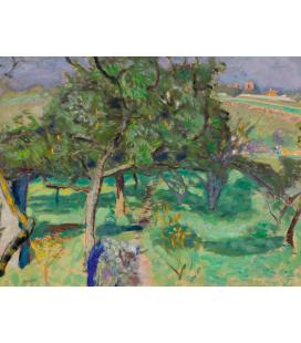 Pierre Bonnard - Paesaggio, alberi da frutto. Stampa su tela