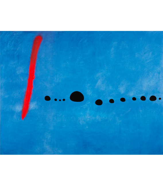 Printing on canvas: Joan Miró - Blue