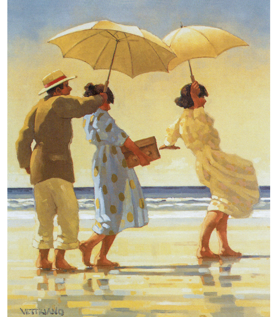Printing on canvas: Jack Vettriano - The Picnic Party