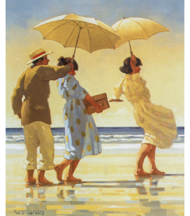 Jack Vettriano - The picnic Party. Stampa su tela